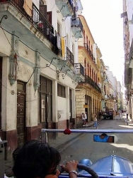 Side stree from car in Havanna, Cuba