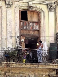 Havana, Cuba, home above the street