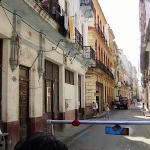 Side stree from car in Havanna, Cuba