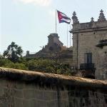 Flag and building Havana, Cuba