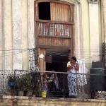 Havana, Cuba, home above the street