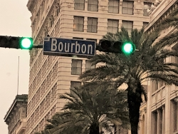 Bourbon street sign NOLA