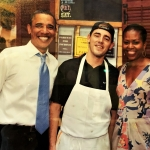 Obama at Parkway Oyster House NOLA