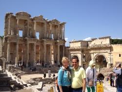 Robin and JC at Ephesus, Turkey