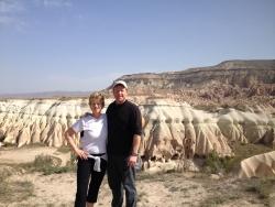 Robin and Tom in Cappadocia, Turkey