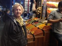Jean in spice market in Istanbul, Turkey