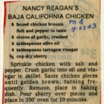 Nancy Reagan's Recipe for Baja Chicken