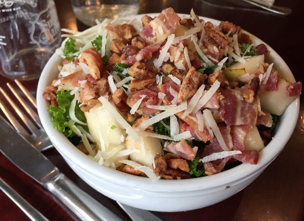 Bailey's Range bacon kale salad