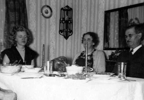 A 50's Thanksgiving shown here with my grandparents Lucy and Howison Sullivan.