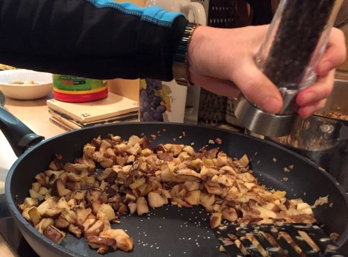 sauteing mushrooms