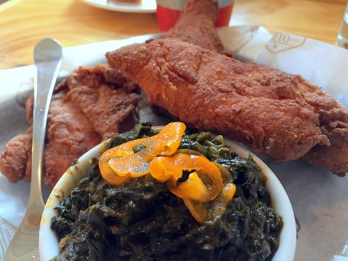 old standard chicken and greens