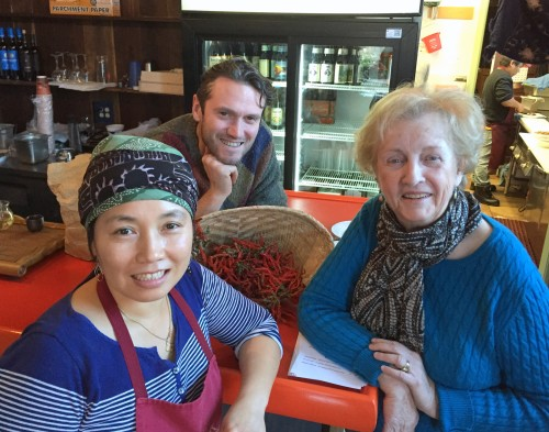 Lona Luo, Pierce Powers, and Jean Carnahan at Lona's Lil Eats