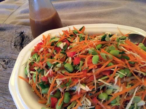 Asian Ginger Peanut Dressing Salad
