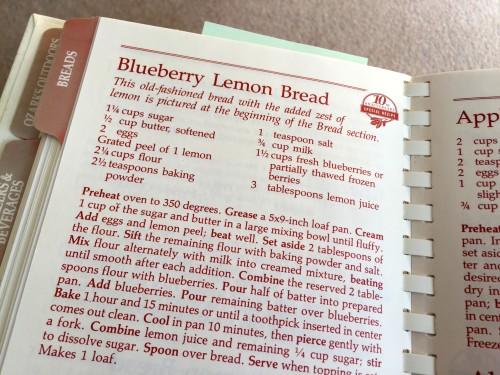 Recipe Blueberry Lemon Bread