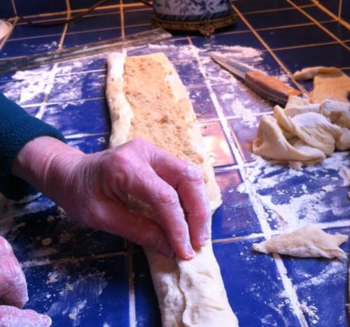 King Cake rolling dough