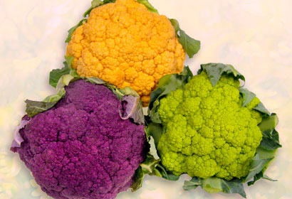 Cauliflower colored