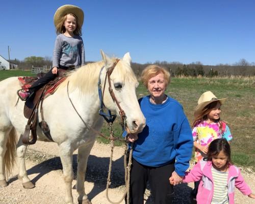 Horseback riding with kids