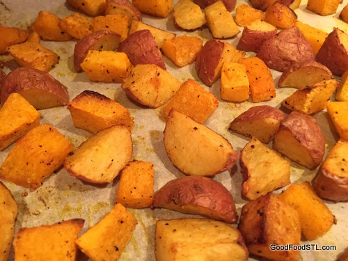 Roasted Potatoes and Butter Nut Squash