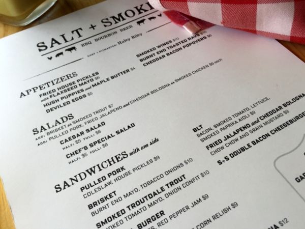 Salt & Smoke menu *