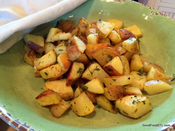 Roasted potatoes on the summer menu