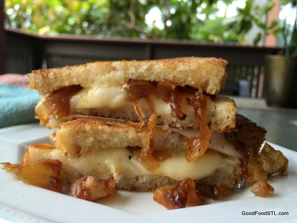 caramelized onion grill cheese *