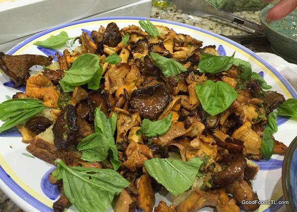 Chanterelle mushrooms