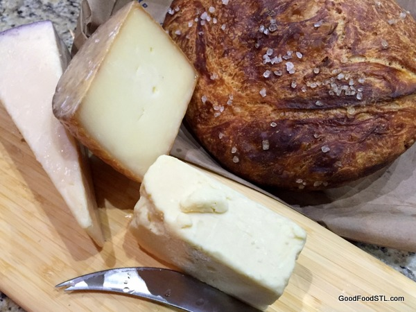 Beer Bread and scrumptious cheeses.