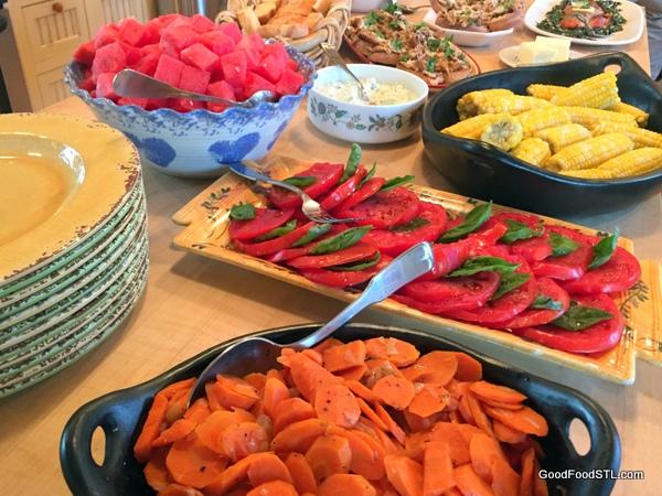 Farm buffet meal