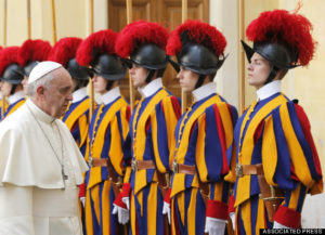 Pope Francis and Swiss Guards