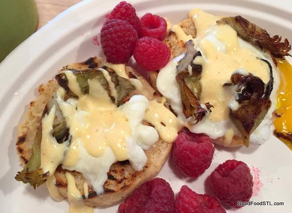 Sourdough muffins Austin Thanksgiving 2015 eggs benedict *