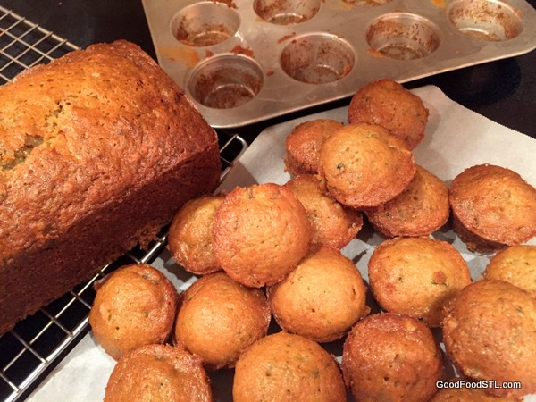 zuchinni bread muffins *