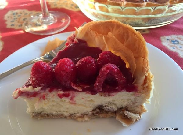 raspberry cheesecake christmas