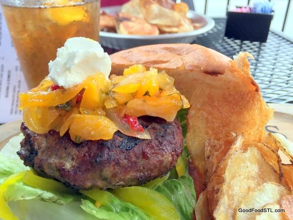 Dressell lamb burger with apricot chutney *