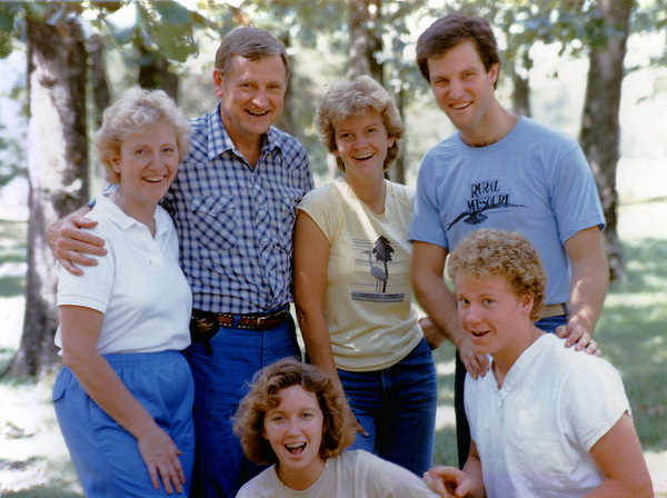 Carnahan family about 1989.