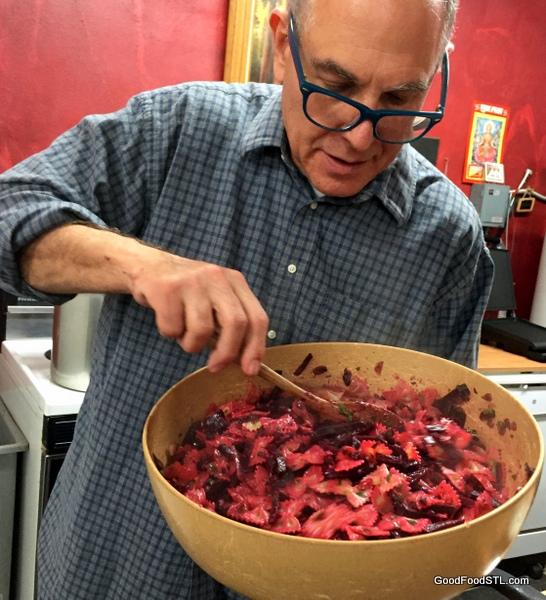 Ken Gilberg's beet pasta