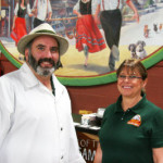 mike sloan and lynette, owners, Wurst Haus, Hermann, MO