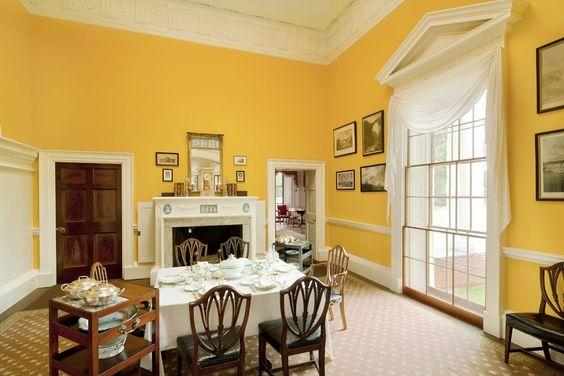 Jefferson Monticello dining room