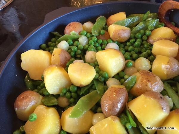 potatoes peas