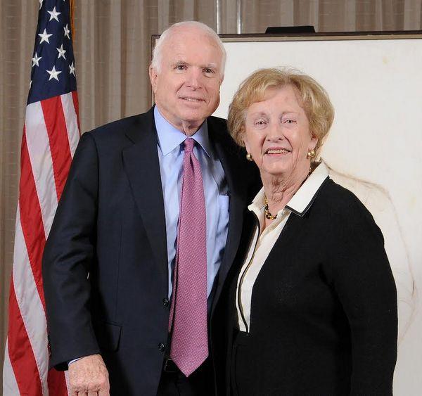 Sen. John McCain and Jean Carnahan