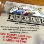 """Lambert's Cafe: """"Home of the Throwed Roll"""""""