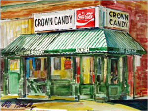 crown candy painting
