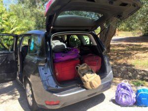 Sicilian Vacation: Four adult, three children and lots of bags