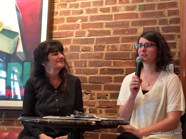 Ruth Reichl being interviewed by Heather Hughes of Sauce Magazine.