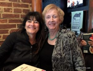 Jean at Ruth Reichl's book signing at Herbie Vintage 72 in the Central West End.