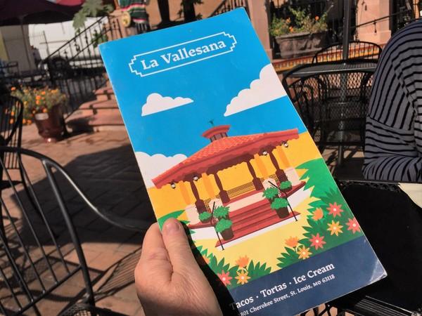 The bilingual menu at La Vallensana features tacos, tortas, burritos,and enchiladas,