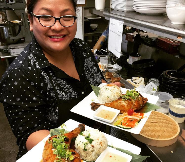 Chef Malou Nievera prepares a Kamayan Feast