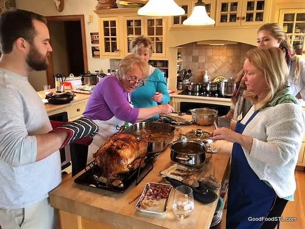 Thanksgiving kitchen