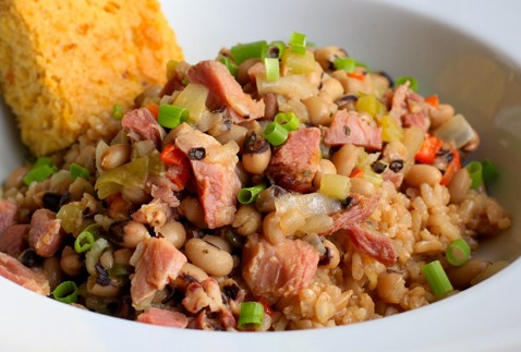 New Year's Black-Eyed Peas and Rice