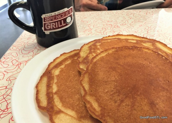 Pancakes at Spencer's Grill