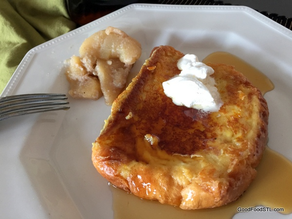French toast and fried apples